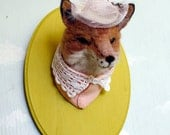 Needle Felted Fox Taxidermy- Reserved for Rose