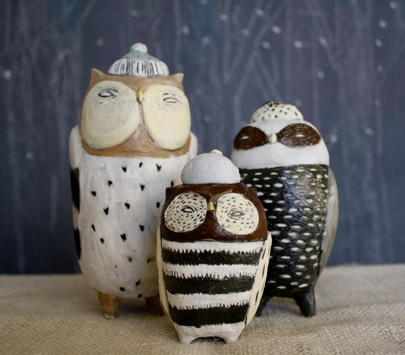 owl kitchen canisters ceramic owl canister set made to order by littleteethmarks 14495