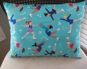 Ice Skating Pillow Cover