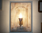 Unique rustic wall sconce lamp light OOAK