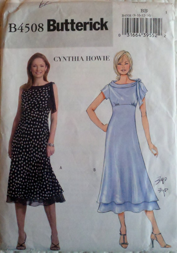 Vintage Womens Sewing Pattern High-Waisted Flared Skirt Dress Size 8-10-12-14 Bust 31.5-36""