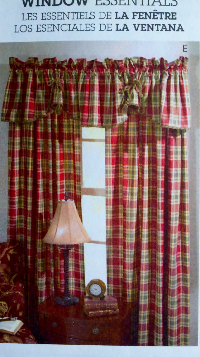 Mccall S M4408 Sewing Pattern Curtains Valances Window