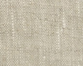 Laundered Oatmeal Linen Fabric  - Natural Fabric/ Soft - Natural Linen with Flecks of Oyster Linen - Home Furnishings -  per yard