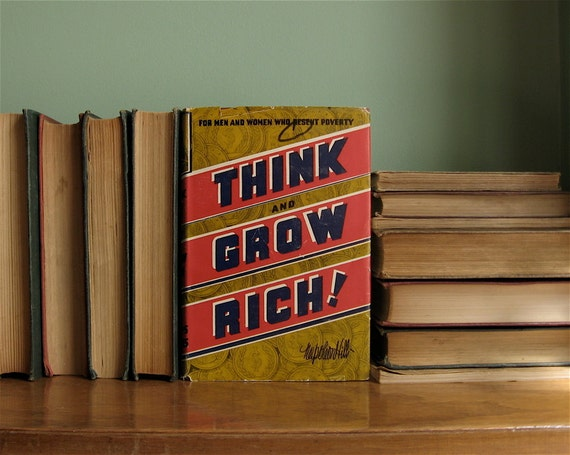 think and grow rich vintage book by napoleon hill 1944