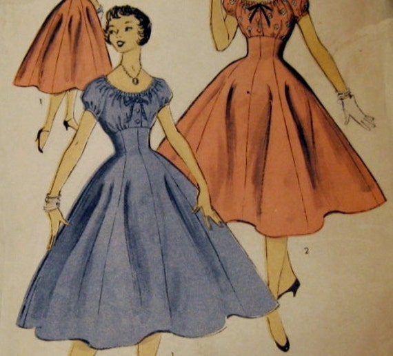 Vintage Sewing Pattern: Advance 6783, Teen Party Dress 1950s