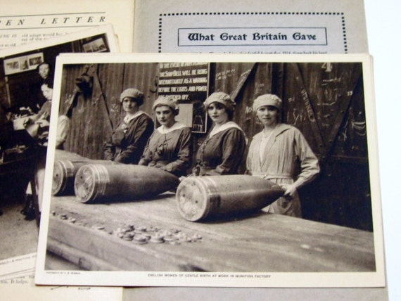 Vintage WWI Photo Prints: Mentor Magazine, 1919 England Under War Conditions