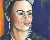 Frida - Fine Art Original Gouache Painting