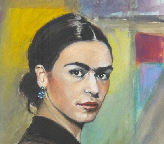 Young Frida  - original gouache painting - Fine Art