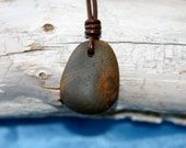 Shades of Brown - Genuine beach stone necklace