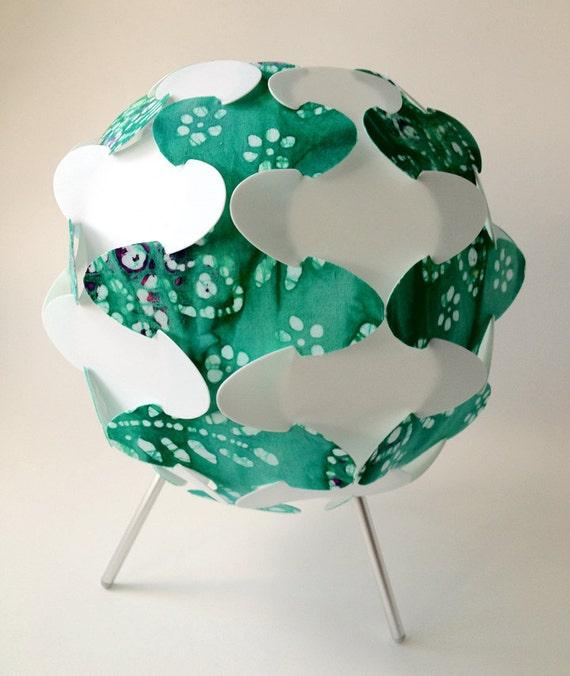 green and white pattern lamp, lighting, desk lamp, ceiling lamp