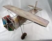 Stained Glass Airplane Kaleidoscope - Mono Plane Airplane Kaleidoscope - Wispy Beige Plane