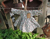Primitive grubby folk art americana star red white blue parade dress prim ornie-TREASURY ITEM