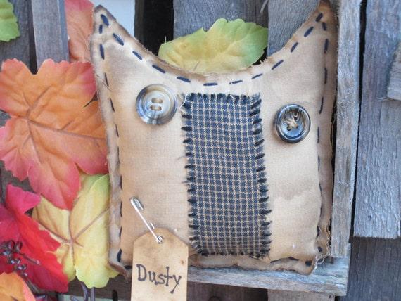 OWL Whimsical Fall Grubby Primitive Ornie Tuck Bowl Filler Needful-TREASURY ITEM