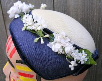 Vintage 50's SWEET WEAVE Flowered Hat