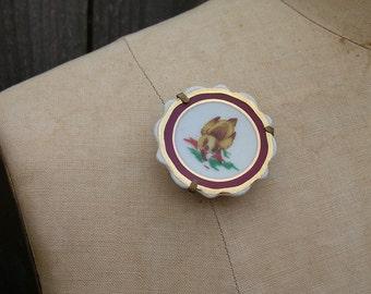 Vintage LITTLE DUCKLING Limoges Duckling Brooch