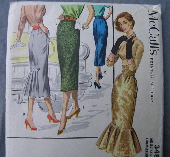 Fabulous 50's McCall's Pattern SKIRT WARDROBE And CUMMERBUND