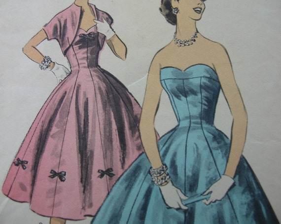 Sale 30% Off With Coupon Code///Fabulous Vintage 50's Junior Pattern BOUFFANT PRINCESS FORMAL