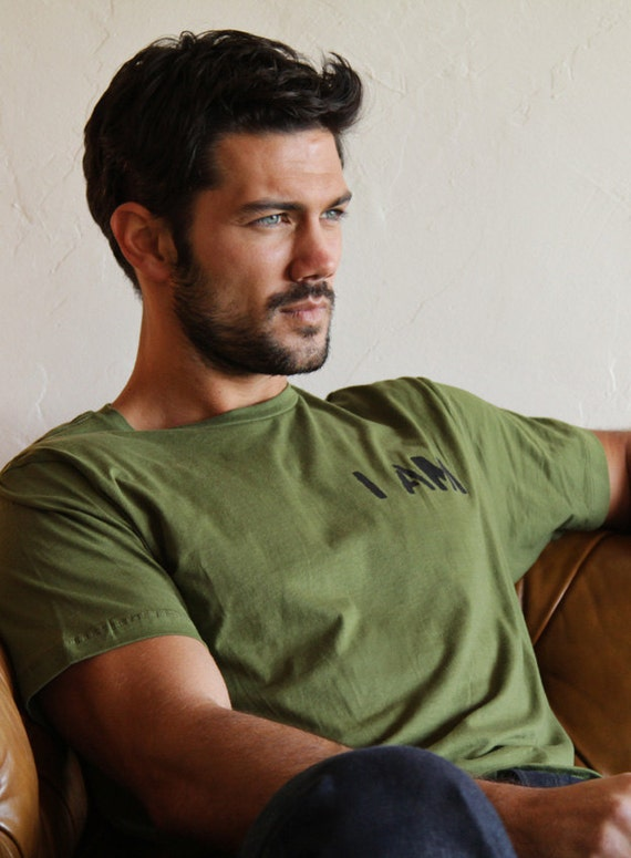 SALE! Size XL Clothing for men - Military Green Graphic T-Shirt - Unisex. Sale.