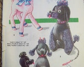 Vintage Sewing Pattern - 1950's Adorable Retro Stuffed Lamb and Poodles - McCalls 2099