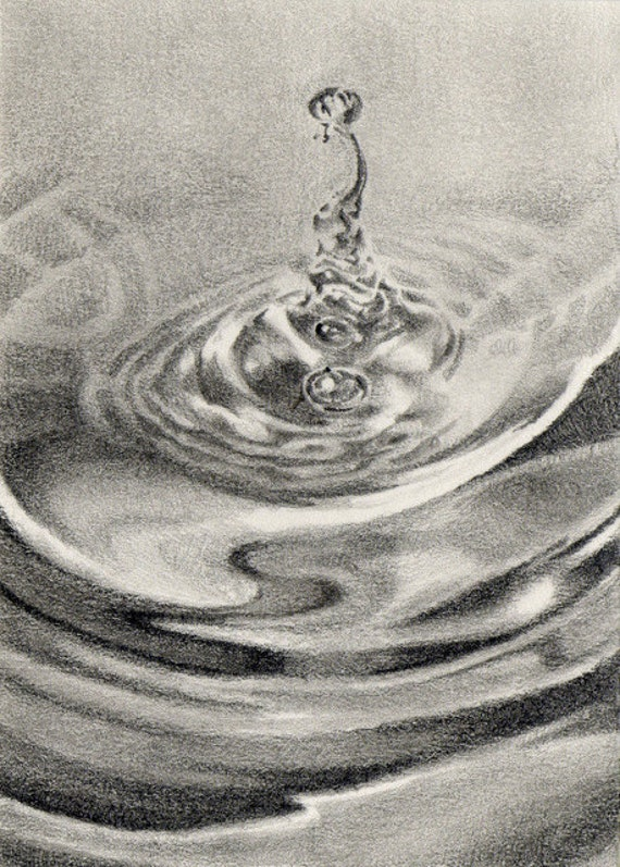 Original ACEO for WaterAid - Day 6: Rise and Fall