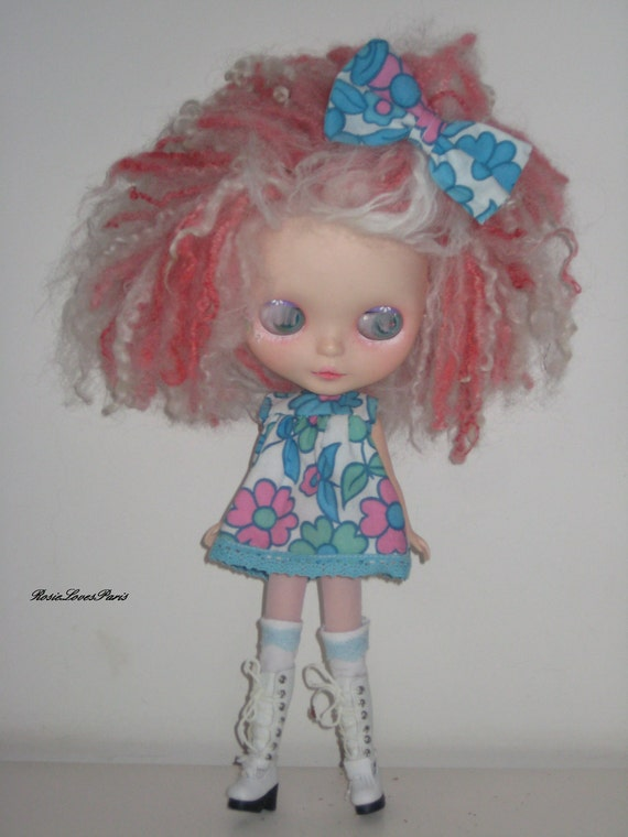 SALE  Blythe     Cute 60's Inspired Mini Smock Dress with Accessories          (BD28112)