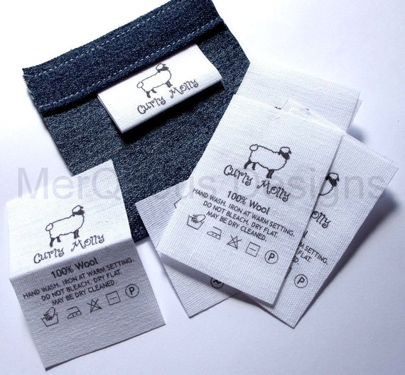10 Fold-over Sew-In canvas Labels