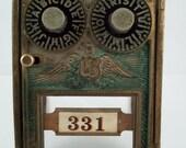 Vintage 1902 Corbin Dual Dial Combination Post Office Box