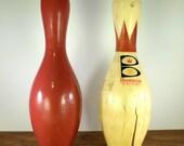 Two Vintage Bowling Pins Brunswick Dura King