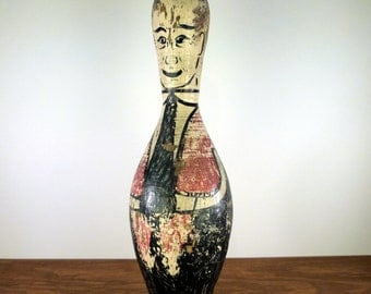 Bowling Trophy - Hand Painted - 1950's