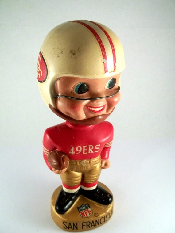 1960's Gold Base NFL San Francisco 49ers Bobblehead