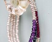 Sterling Silver with Semi-Precious Stone Bracelet