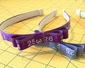Measuring Tape Headband - Custom Made to Order