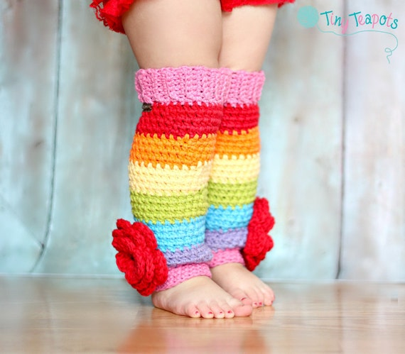 Rainbow Stripe Leg Warmers, Girls, Toddler, Baby