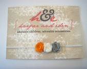 FREE SHIPPING - Tennessee Vols Rosebud Trio felt headband - Newborn/Infant to Adult Sizes - You pick the Colors