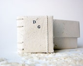 Mini book / photo holder with origami box as wedding favor - eco friendly