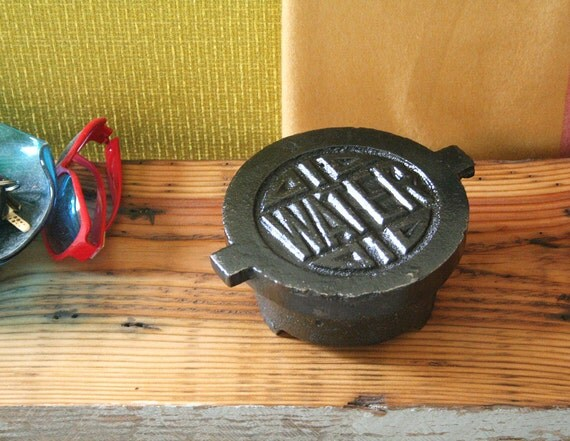 industrial water trivet, upcycled cast iron