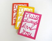 Notebook Set - I will always Love...