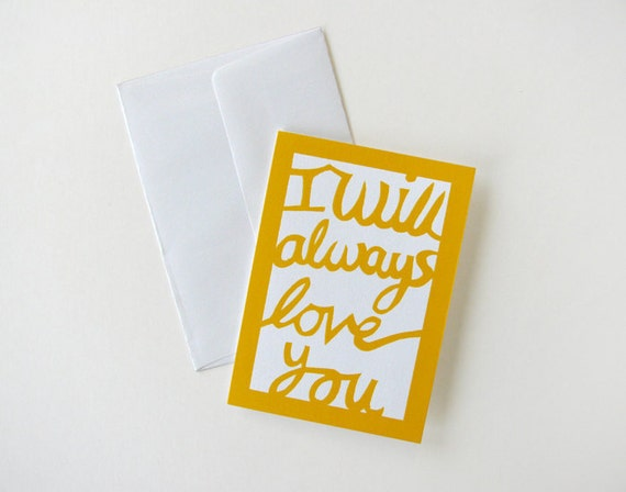Card: I will always love you   (last one in stock)