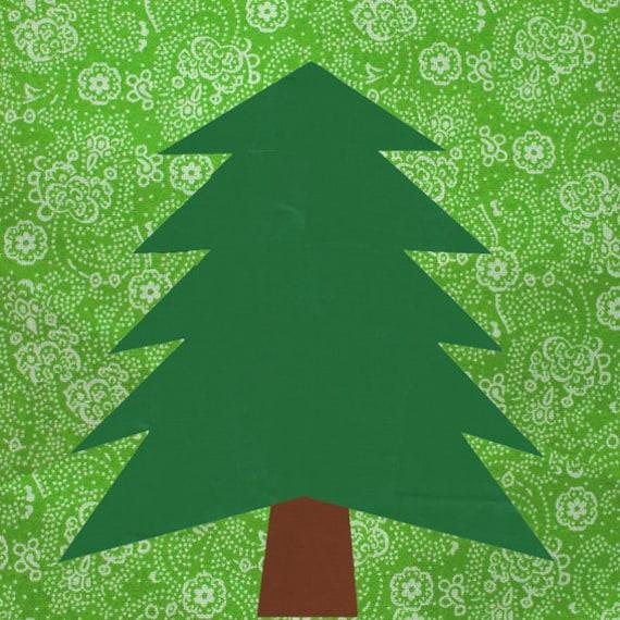 Pine Tree Quilt Block Paper Pieced Quilt Pattern Pdf