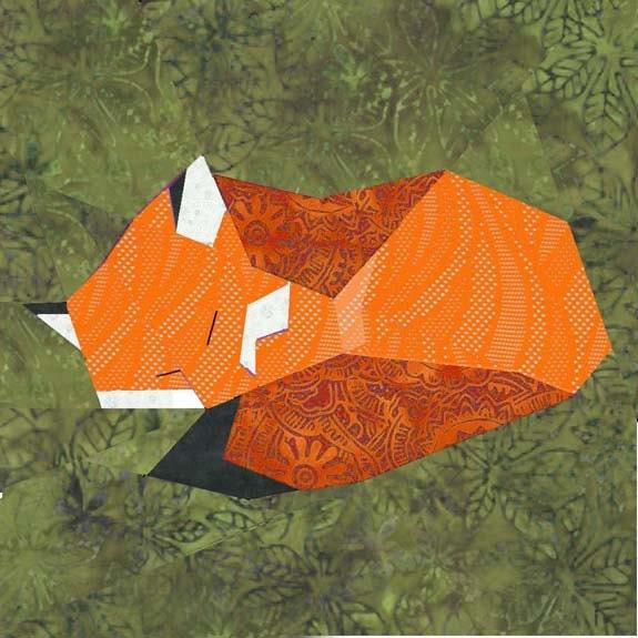 Fox Quilt Block Paper Pieced Quilt Pattern Pdf Pattern