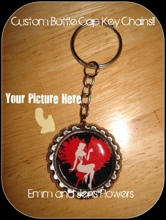 Custom Key Chains-You Choose Your Picture-Send Me Your Own Pictures-I Do The Work For You