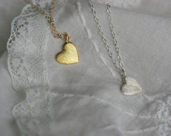 Gold or Silver Heart Necklace