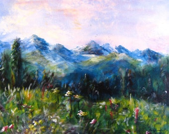 Giclee fine art print of a Colorado Mountain scene -From Copper Mountain.  Free U.S. shipping.