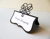Place Card - Wedding Tented Layered Die Cut Seating Card, Name Printing Included