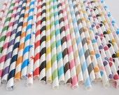 Reserved for Kasia.....40 Black/White Stripe Paper Straws