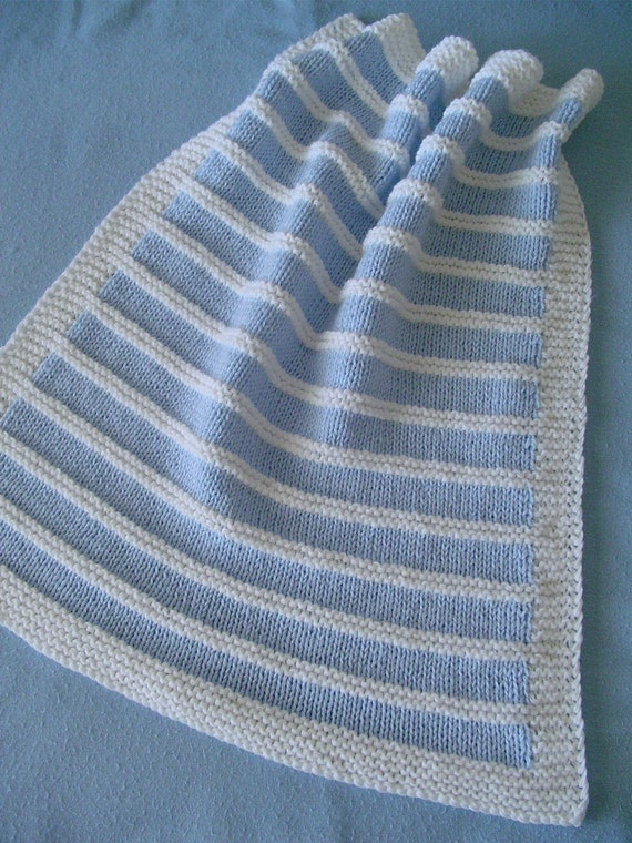 Baby Blanket - Blue Patterned Stripes - Compatible with Others - FREE SHIPPING