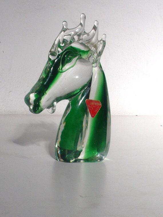 Mid century  murano glass seahorse torso figure