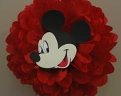 Disney Cruise door decoration, Disney Cruise decoration, Door Decoration - tissue pom pom  - Disney Birthday party, Disney Shower decoration