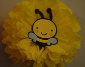 Bumble Bee Decorations/ Bumble Bee/ Tissue paper pom poms/ Bumble Bee Party/ Paper pom poms/ Bumble Bee Shower/ Baby Shower decoration/ Bee