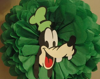 Disney Goofy - tissue pom pom - Birthday, shower decoration